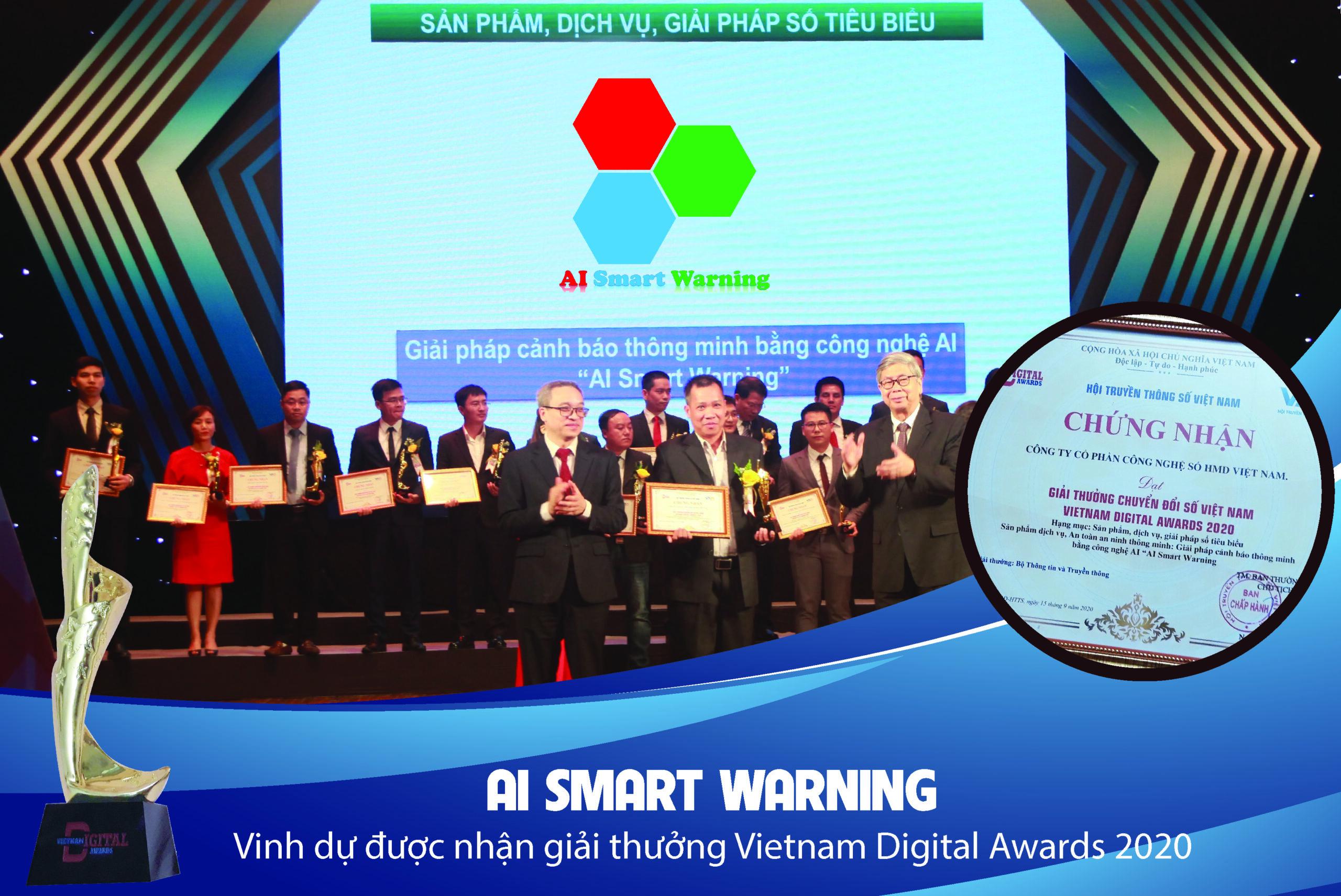 AI Smart Warning đạt giải thưởng VietNam Digital Awards 2020